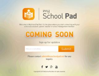 myschoolpad.net screenshot