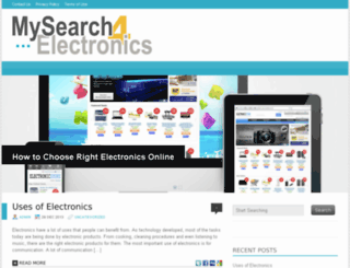 mysearch4electronics.com screenshot