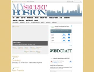 mysecretboston.com screenshot