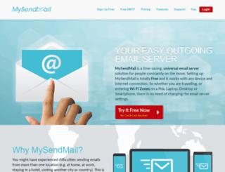 mysendmail.com screenshot