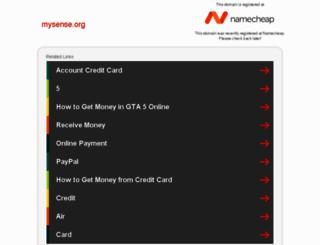 mysense.org screenshot