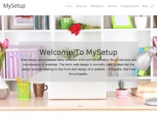 mysetup.co.za screenshot