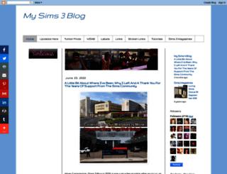 mysims3blog.blogspot.it screenshot