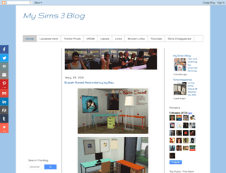 mysims3blog.blogspot.pt screenshot