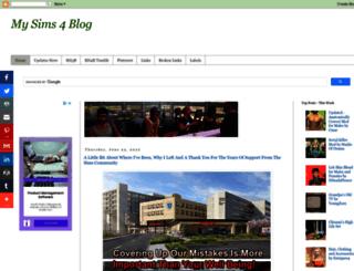 mysims4blog.blogspot.com screenshot