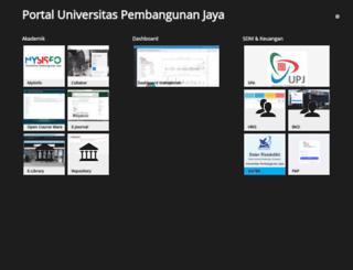 mysisfo.upj.ac.id screenshot