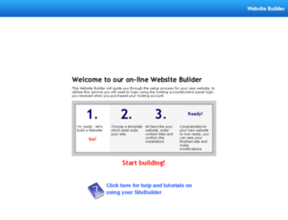 mysitebuilder.org screenshot