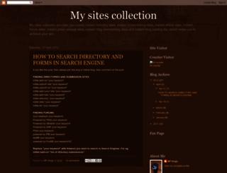 mysitescollection.blogspot.in screenshot