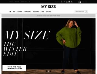 mysize.com.au screenshot