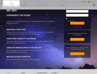 mysky.nameastarlive.com screenshot
