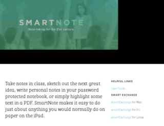 mysmartnote.net screenshot