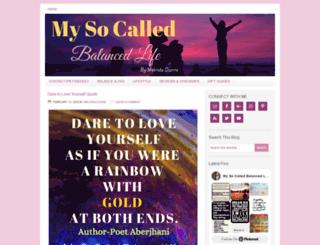 mysocalledbalancedlife.com screenshot