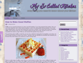mysocalledkitchen.com screenshot