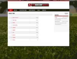mysoccerspace.com screenshot