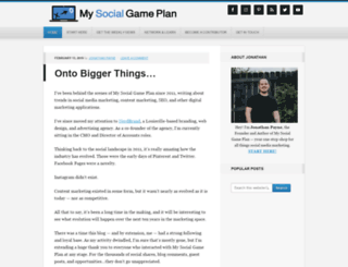 mysocialgameplan.com screenshot