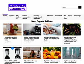 mysocialgoodnews.com screenshot