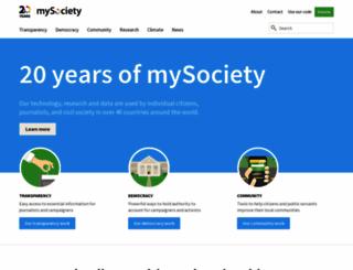 mysociety.org screenshot