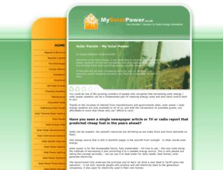 mysolarpower.co.uk screenshot