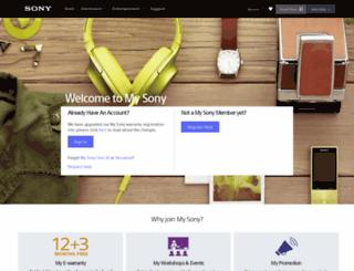 mysony.sony.com.my screenshot