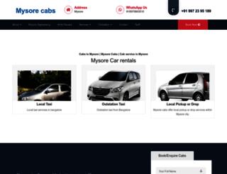 mysorecabs.com screenshot