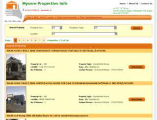 mysorepropertiesinfo.com screenshot
