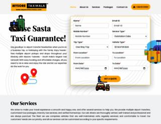 mysoretaxiwala.com screenshot