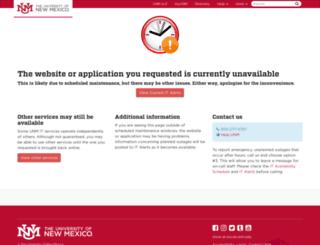 mysos.unm.edu screenshot
