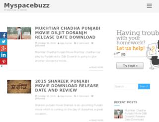 myspacebuzz.net screenshot