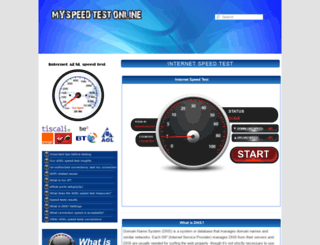 myspeedtestonline.com screenshot