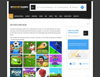 mysportgames.com screenshot
