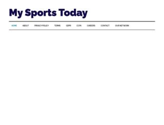 mysports.today screenshot