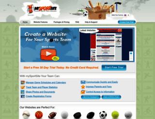 mysportsite.com screenshot
