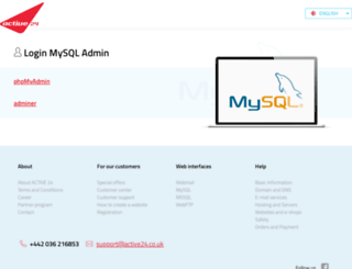 mysql.active24.cz screenshot