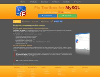 mysql.fixtoolboxx.com screenshot