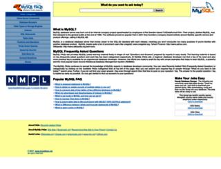 mysqlfaqs.net screenshot