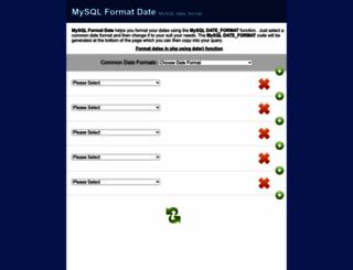 mysqlformatdate.com screenshot