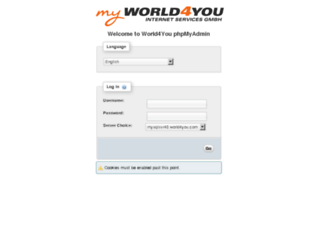 mysqlsvr40admin.world4you.com screenshot