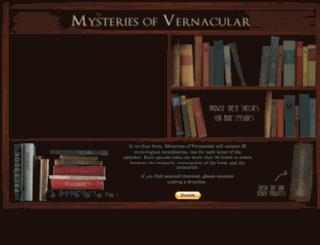 mysteriesofvernacular.com screenshot