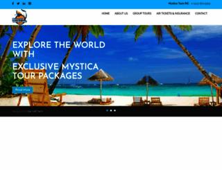 mysticatours.ca screenshot