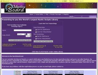 mysticboard.com screenshot
