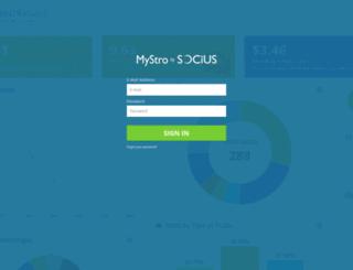 mystro.sociusmarketing.com screenshot