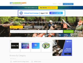 mysummercamps.com screenshot