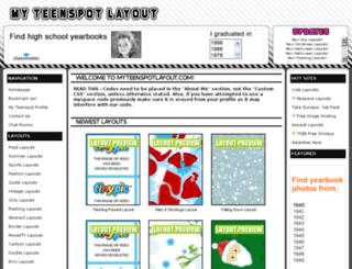 myteenspotlayout.com screenshot