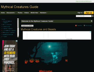 mythicalcreaturesguide.com screenshot