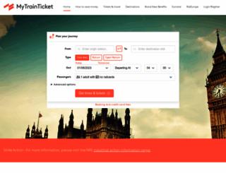 mytrainticket.co.uk screenshot