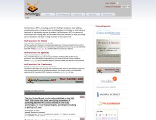 mytranslators.net screenshot