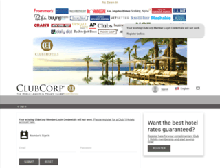 mytravel.clubcorp.com screenshot