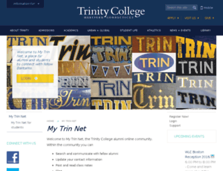 mytrinnet.trincoll.edu screenshot