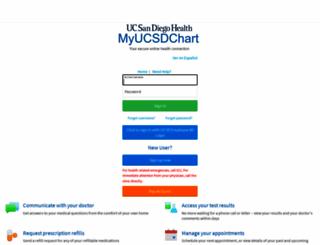 myucsdchart.ucsd.edu screenshot
