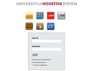 myuh.uh.edu screenshot